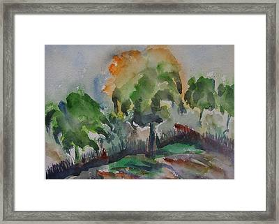 Hilly Slope Framed Print by Rima