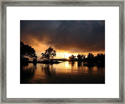 Hilo Gold Framed Print by Ron Holiday Broomell