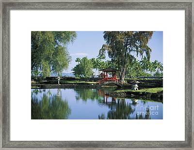 Hilo, Liliuokalani Garden Framed Print by Ron Dahlquist - Printscapes
