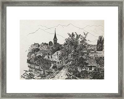 Hilterfingen Framed Print by Paul Klee