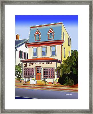 Hilton Flower Shop Framed Print by Stephen Younts