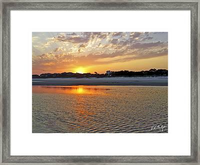 Hilton Head Beach Framed Print by Phill Doherty