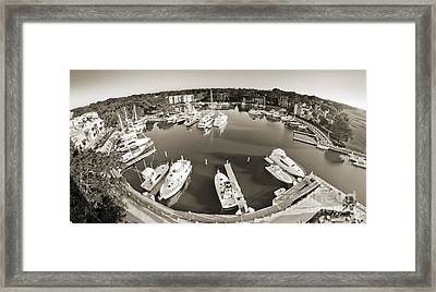 Hilton Head Harbor Town Yacht Basin 2012 Framed Print by Dustin K Ryan