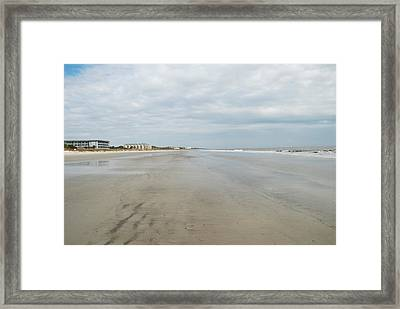Hilton Head Island Beach Framed Print by Kathy Gibbons