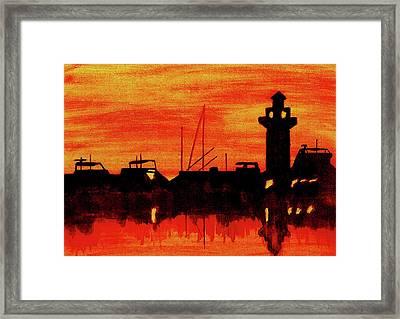 Hilton Head Lighthouse Framed Print by Michael Vigliotti