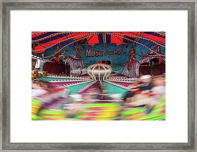 Himalaya Ride In Motion Framed Print by Erin Cadigan