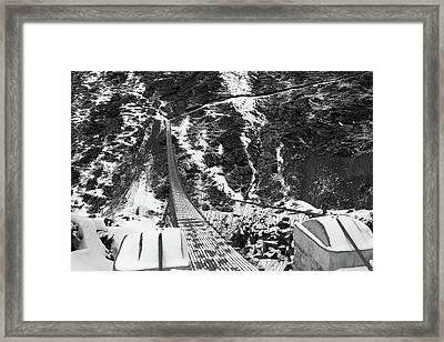 Himalayan Steel Bridge  Framed Print