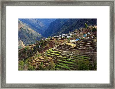 Himalayan Terraced Fields Framed Print