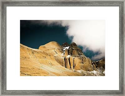 Himalayas Mountain Kailas Kora Tibet Yantra.lv Framed Print by Raimond Klavins