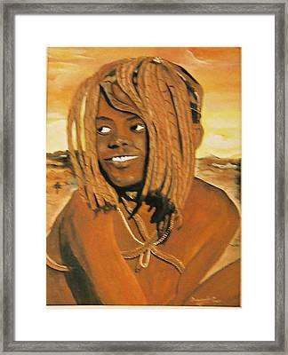 Himba Girl Framed Print by Desenclos Patrick