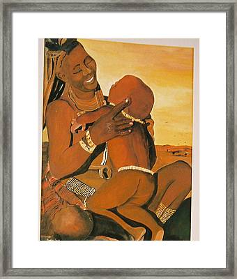 Himba Mom Framed Print by Desenclos Patrick