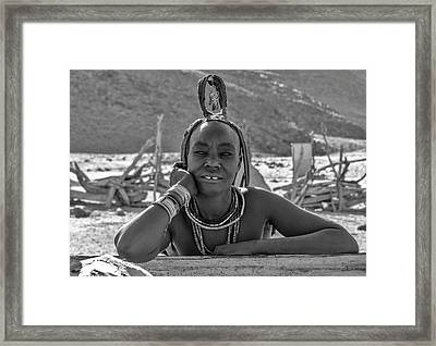 Framed Print featuring the photograph Himba Portrait 2 by Rand