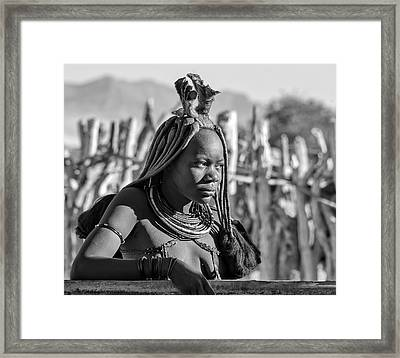 Framed Print featuring the photograph Himba Portrait by Rand