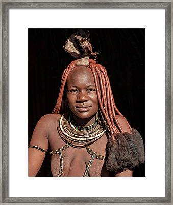 Framed Print featuring the photograph Himba by Rand