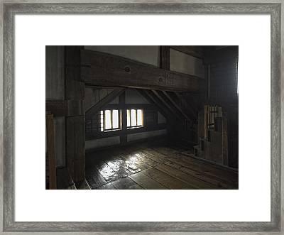 Himeji Castle Lintel Beam - Himeji City Japan Framed Print