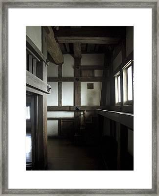 Himeji Medieval Castle Interior - Japan Framed Print