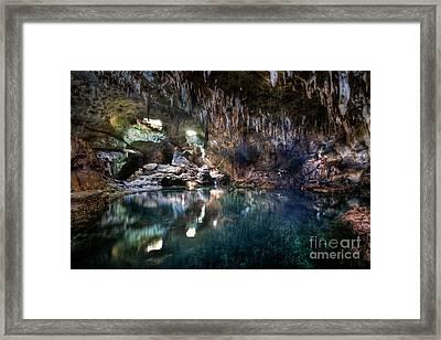 Framed Print featuring the photograph Hinagdanan Cave by Yhun Suarez