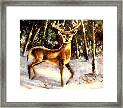 Framed Print featuring the painting Hinds Feet by Hazel Holland