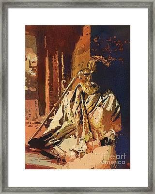 Hindu Holy Man- Nepal Framed Print by Ryan Fox