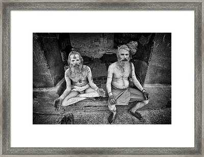 Hindu Sadhus 2 Framed Print by David Longstreath
