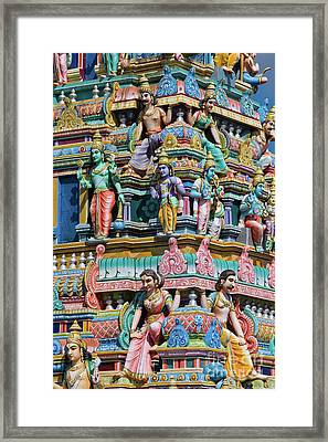 Hindu Temple Gopuram Framed Print by Tim Gainey