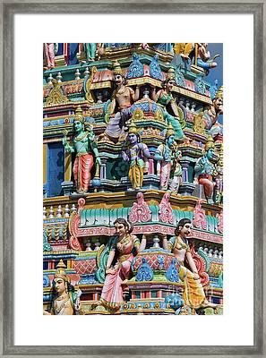 Hindu Temple Gopuram Framed Print