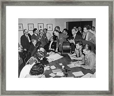 Hines Jury Selection Wheel Framed Print