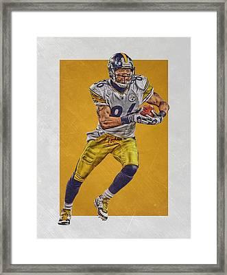 Hines Ward Pittsburgh Steelers Art Framed Print by Joe Hamilton