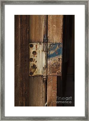 Hinge Of Blue Framed Print by Jennifer Apffel