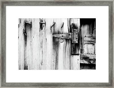 Hinged In Black And White Framed Print