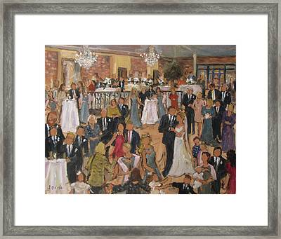 Hinson-brown Wedding Reception Framed Print by Barbara Davis