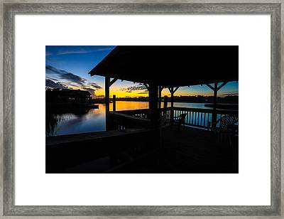 Hinson House Dock Verison Two Framed Print by Bill Cantey