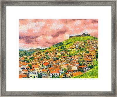 Hios Volissos Framed Print by George Rossidis
