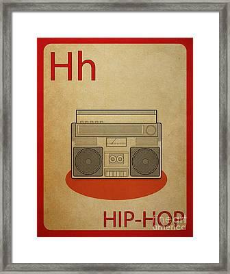 Hip Hop Vintage Flashcard Framed Print by Mynameisjz JZ