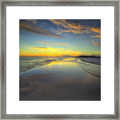Hip To Be Square In Destin Framed Print by JC Findley