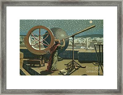 Hipparchus In The Observatory In Alexandria Framed Print