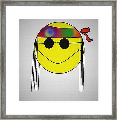 Hippie Face Framed Print by Bill Cannon