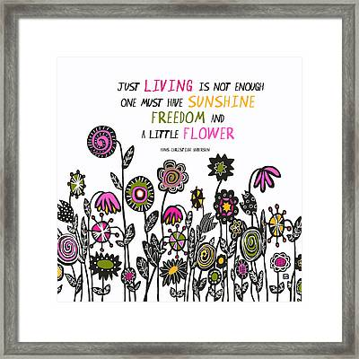 Framed Print featuring the painting Hippie Garden by Lisa Weedn