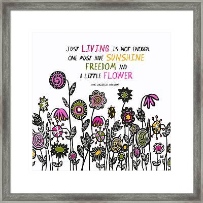 Hippie Garden Framed Print