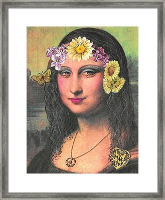 Hippie Gioconda Framed Print