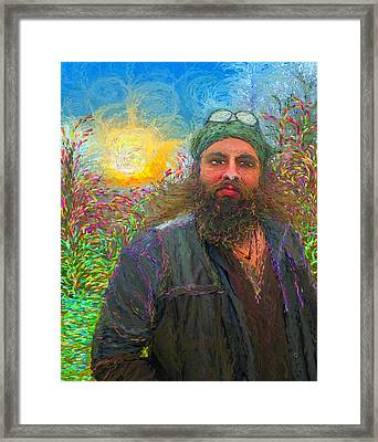 Hippie Mike Framed Print