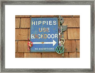 Hippie Sign Framed Print