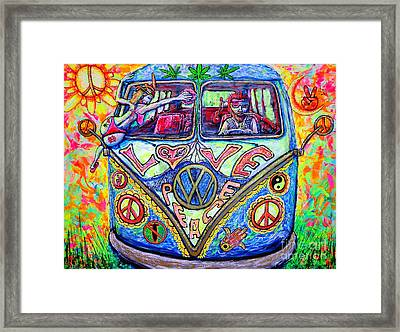 Hippie Framed Print by Viktor Lazarev