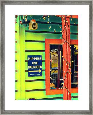Hippies Use Backdoor Framed Print