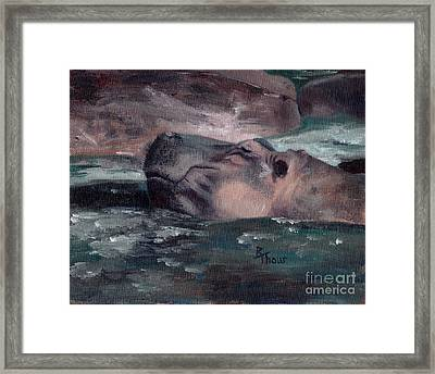 Framed Print featuring the painting Hippo by Brenda Thour