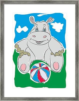 Hippo - My Www Vikinek-art.com Framed Print by Viktor Lebeda