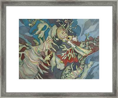 Hippocampe Blue Framed Print by Liduine Bekman