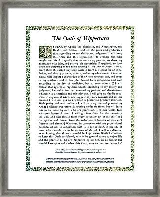 Hippocratic Oath, 1938 Framed Print by Science Source