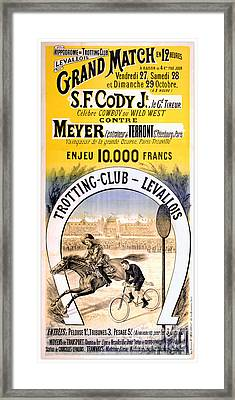 Hippodrome Du Trotting Club Levallois Framed Print