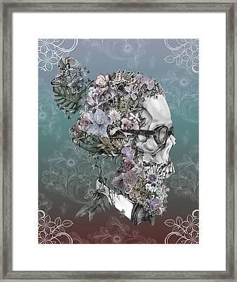 Hipster Floral Skull 2 Framed Print
